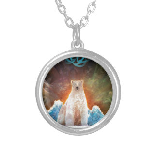 Stranded Polarbear Silver Plated Necklace