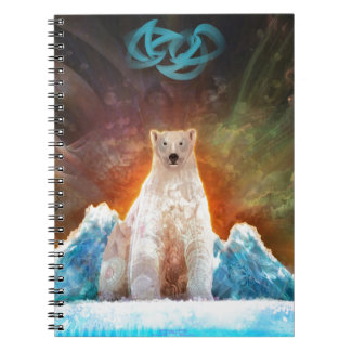 Stranded Polarbear Spiral Notebook