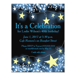 Strands of Stars Any Occasion Invitation