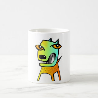 strange abstract cubism funny dog pet animal coffee mug