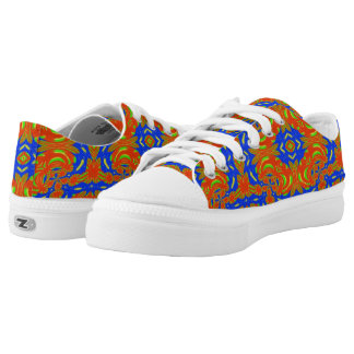 Strange abstract pattern low tops