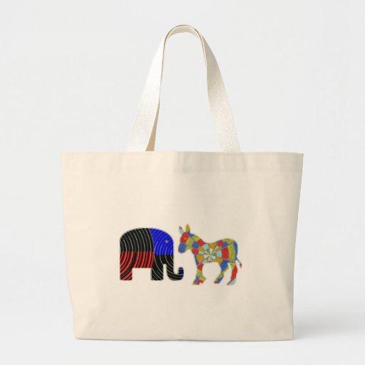 Strange Bed Fellows : POLITICS Elephant n Donkey Bag