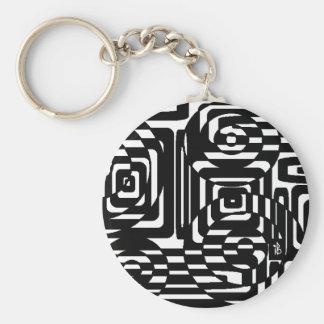 strange checkerboard key ring