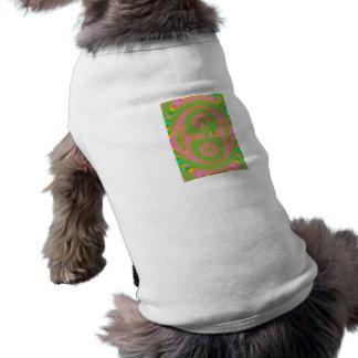 Strange colored pattern sleeveless dog shirt