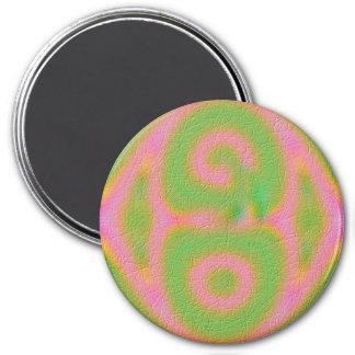 Strange colored pattern refrigerator magnet