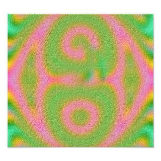 Strange colored pattern photo print