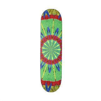 Strange colorful art skate board decks