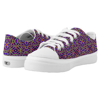Strange colourful pattern low tops