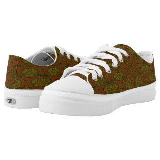 strange colourful unique pattern low tops
