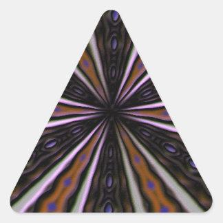 strange cool pattern triangle sticker