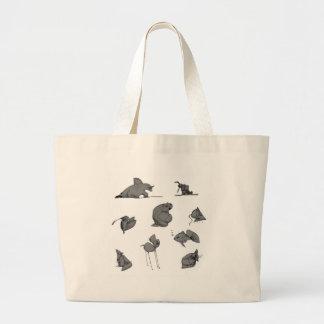 strange creatures jumbo tote bag