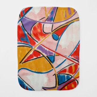 Strange Fish-Abstract Art Hand Painted Burp Cloth