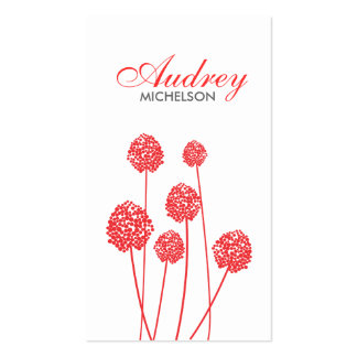STRANGE FLOWERS WHITE RED Business Card