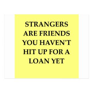 strange friends postcard