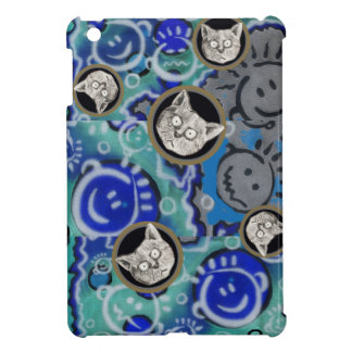 strange funny faces and a mad cat case for the iPad mini