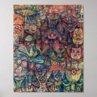 Strange Garden : Paul Klee 1923 Poster