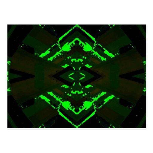 Strange Green Alien Design Post Cards