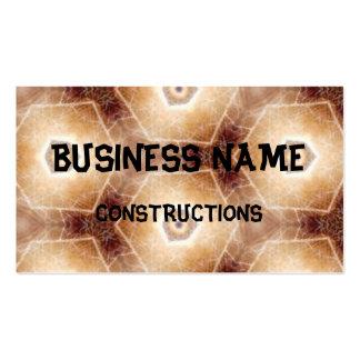Strange hexagon shapes pattern business card