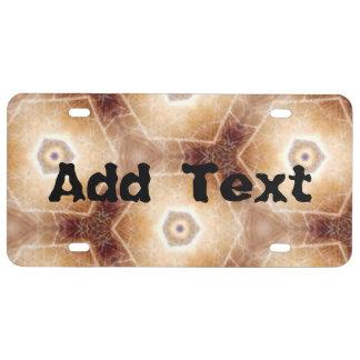 Strange hexagon shapes pattern license plate