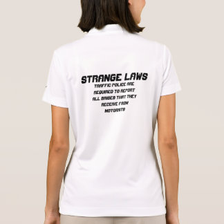 Strange laws Police report bribe Polo T-shirts