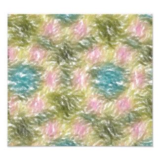 strange multicolored pattern photo print