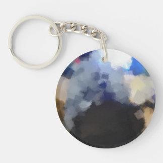 Strange Odd art Double-Sided Round Acrylic Key Ring