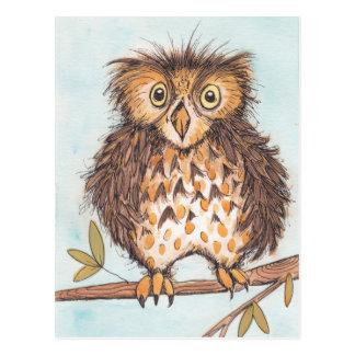 Strange Owl Postcard