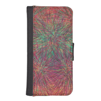 Strange random shapes iPhone SE/5/5s wallet case