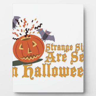 Strange Sights On Halloween Display Plaque