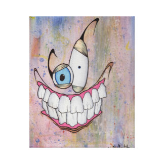 Strange smile gallery wrapped canvas