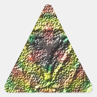Strange texture cool pattern triangle sticker