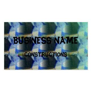 Strange unique pattern pack of standard business cards