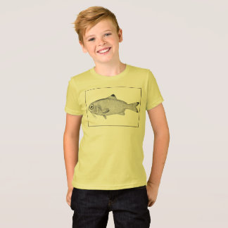 Strange vintage fish drawing T-Shirt
