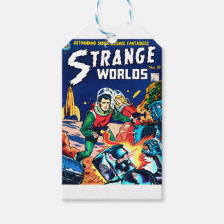 Strange Worlds -- Angry Robots Gift Tags