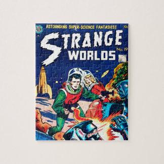 Strange Worlds -- Angry Robots Jigsaw Puzzle