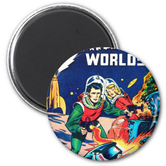 Strange Worlds -- Angry Robots Magnet