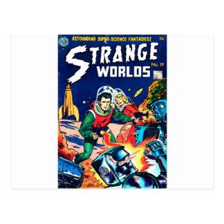 Strange Worlds -- Angry Robots Postcard
