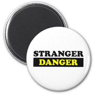 Stranger Danger 6 Cm Round Magnet