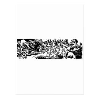"""""""Strangler Calaveras"""" circa 1942 MEXICO Postcard"""