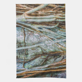 Strangler Fig Abstract Tea Towel