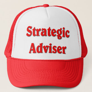 Strategic Adviser Red Print Polica Humor Trucker Hat