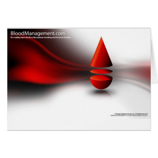 strategic blood management greeting card