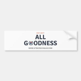 StrategyHaus All Goodness EST 2017 Bumper Sticker