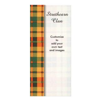 Strathearn clan Plaid Scottish tartan Rack Card Design