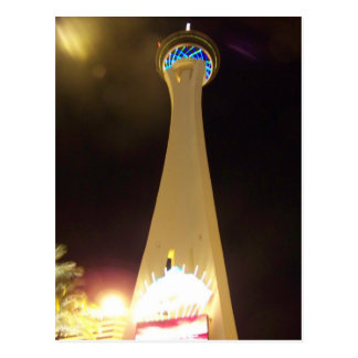 Stratosphere at Night - Las Vegas Postcard