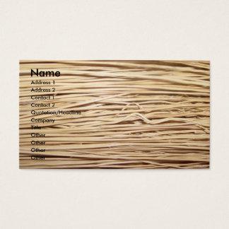 Straw business card