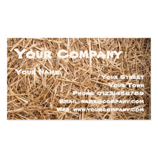 Straw - Fully laid out Straw as background or text Pack Of Standard Business Cards