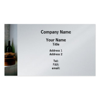 Straw Hat and Hat Box - Platinum Finish Business Card Templates
