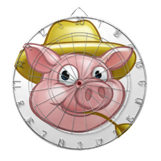 Straw Pig Cartoon Character Dartboard