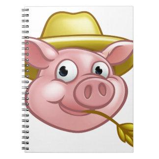 Straw Pig Cartoon Character Notebook